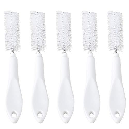 Hemoton 5 peças de escova de garrafa comprida para limpeza de copos Escova de limpeza Zona de morte Escova de limpeza para louças de cozinha (branca)