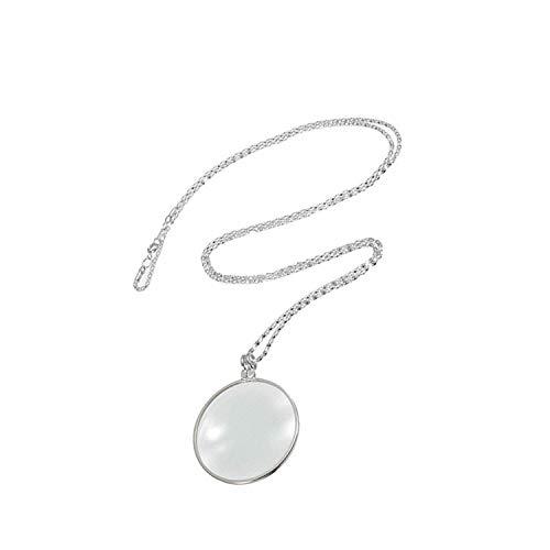 Preisvergleich Produktbild Vektenxi Unisex Fashion 6X Lupe Anhänger Halskette Vergrößern Glas Reeding Decorativ Monokel Halskette