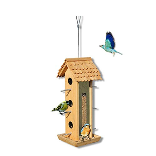 Bird Nidal Opción casa for pájaros decoración al aire libre perfecto Gifting For Kids Retro Artes y artes Country Cottages alimentador del pájaro Casa de madera al aire libre for la pequeña casa for p