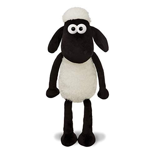 Shaun the Sheep 61174 - Peluche de Peluche, Color Blanco y Negro, 12 Pulgadas, Apto para Adultos y niños