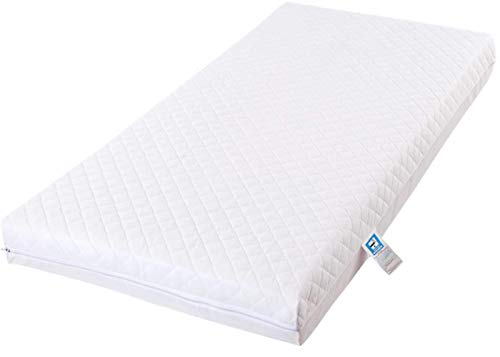 Bluemoon Bedding Fully Breathable Standard Travel Cot Mattress (100 x 70 x 10 cm)