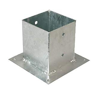 GAH-Alberts - Base para postes cuadrados (galvanizado al fuego)