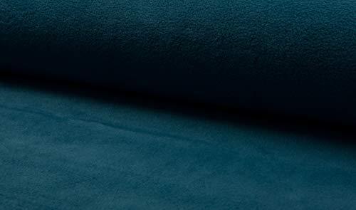 Polarfleece Antipeling in vielen Farben 0,5 m Uni - Kuschelfleece Meterware - Fleece Stoff- 360g/m (Petrol)