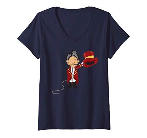 Mujer Circo Domador de leones Circo Camiseta Cuello V