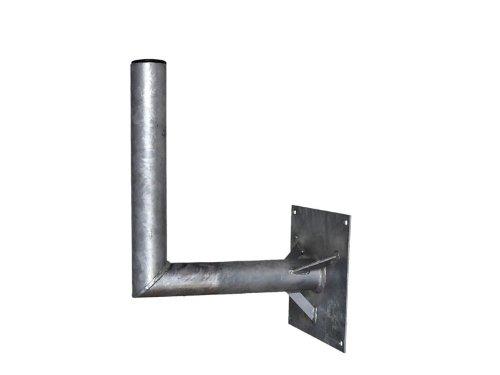 A.S.Sat 26050 wandhouder thermisch verzinkt staal 50 cm wandafstand 60 mm houderbuis met steun voor sat-antennes 150 cm