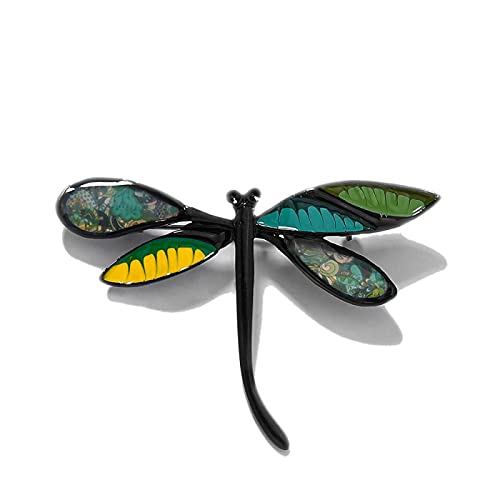 Kids Women's Dragonfly Brooches Pins for Women Clothes Dress Blue Insect Enamel Decorative Brooch Pin Jewelry