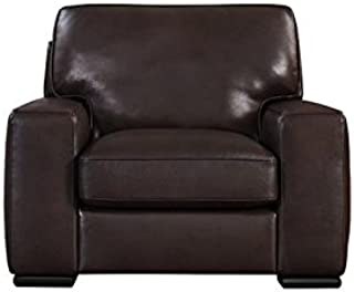 Natuzzi Editions Matera Collection Brown Leather Stationary Chair