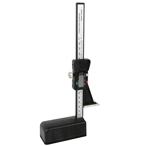 MOVKZACV Höhenmesser, LCD digitales Präzisions-Tiefenmessgerät mit Magnetfuß, elektronisches Messwerkzeug für Holzarbeiten, Kunststoff, magnetisch, elektronisch, Höhenmessgerät