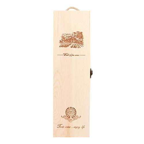 Ichiias Caja de Vino, Caja Que Lleva de la Botella de Vino Estuche Que Lleva del Vino, Decorativo para el hogar de la Fiesta de cumpleaños