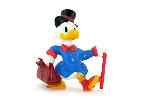 Kinder Überraschung Dagobert Duck Figur mit Geldtasche, Stock und Zylinder. Höhe der Figur ca. 6 cm