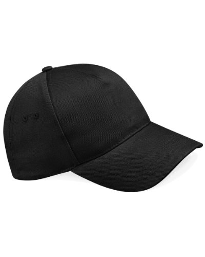 Gorra de béisbol Beechfield B15, 5 paneles Negro negro Taille unique