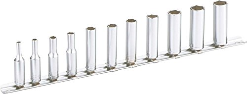 SAM Outillage RHL-J11R Rack de 11 douilles longues mm, Argent