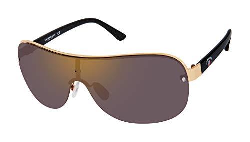 U.S. Polo Assn. PA1006 - Gafas de sol para hombre con borde superior de metal, brazos esmaltados y protección UV 100%, 70 mm