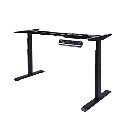 Fromann Electric 3 Tier Legs Dual Motor Desk Base - Sit Stand up Standing Height Adjustable Desk Frame with Memory USB Handset for Home and Office