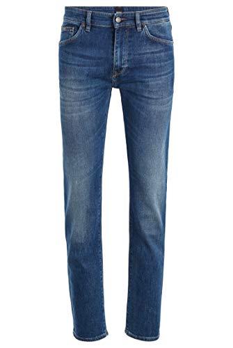 BOSS Herren Maine3 Regular-Fit Jeans aus italienischem Stretch-Denim