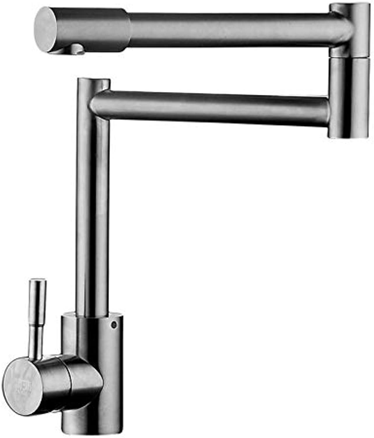 Antique Bathroom Washbasin Faucet Kitchen hot and Cold Sinks Lead-Free 304 Stainless Steel Brushed Faucet Universal redating Folding