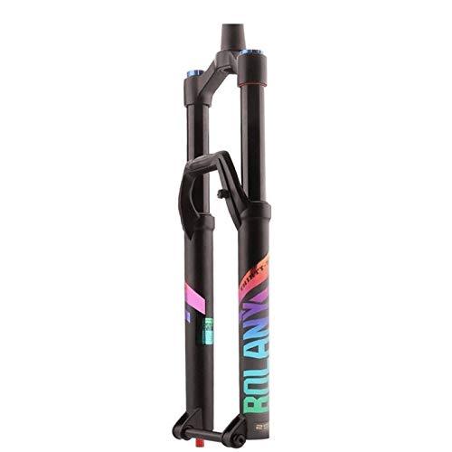 LSRRYD Horquilla Bicicleta 27,5 29 Pulgadas Ultraligero DH Horquilla Suspensión Bicicleta 36 Amortiguador Aire MTB Freno Disco Tubo Cónico 1-1/2' Eje Pasante HL Viaje 120mm