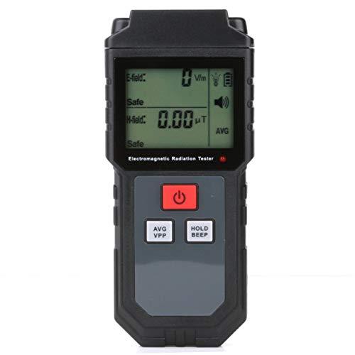 Misuratore di radiazioni a campo elettromagnetico Contatore EMF Contatore Dosimetro digitale Rivelatore LCD Misura per telefono computer - Nero