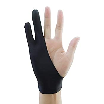 Drawing Glove Pewant Universal Left Hand Right Hand Two-Finger Glove Ambidextrous Artist Glove for Computer Graphics Tablets Laptop,iPad,Paper Sketching,etc.