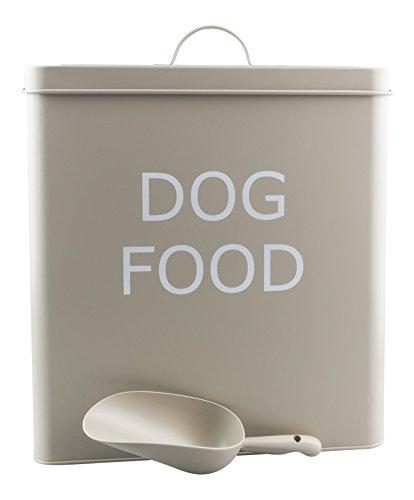 Retro-Hundefutterdose im Vintage-Look, mit dichtem Deckel und Schaufel, Olivefarben, XL, 31 cm hohe Dose