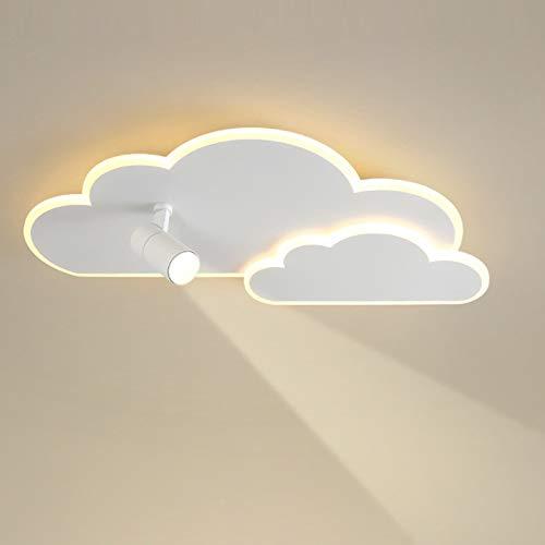 LANTING LED Lámpara de techo creatividad Nubes blanco Luz de Plafón Focos de techo Regulable Con control remoto Iluminación de techo Para Cuarto Estudiar Cuarto de los niños 36W 2500LM Ø50CM