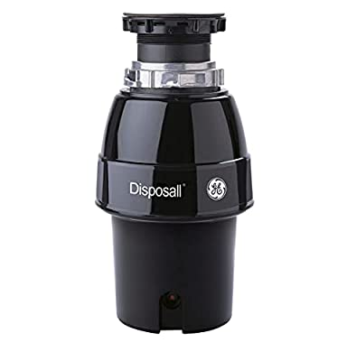 GE GFC530N 1/2 Horsepower 2600+ RPM Deluxe Continuous Feed Food Waste Disposer Non Corded Model with 31oz Grind Chamber Capacity, Black