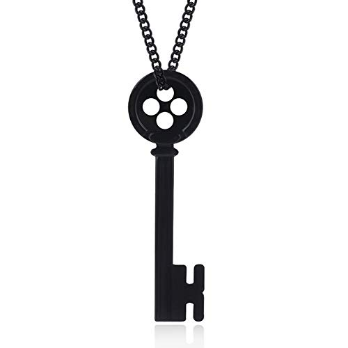 Coraline Key Necklace Chain Pendant for Other Mother Cosplay Halloween Accessories