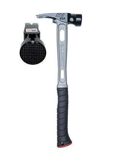 Martinez Tools M1 Titanium Handle 15oz Milled Steel Head Curved Grip Framing Hammer