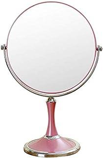 Desktop Makeup Vanity Mirror, Two-Sided Beauty Mirror 3X Magnification Cosmetic Mirror 360° Swivel Bathroom Mirror Portable,Pink_6inch,Bathroom