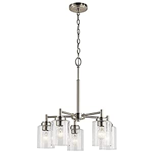 Kichler 44030NI Five Light Chandelier from the Winslow Collection, Brushed Nickel