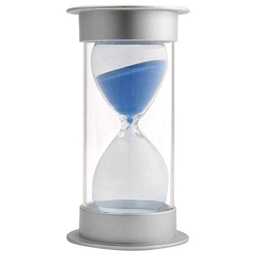 USNASLM Reloj de arena de 45 minutos, moderno temporizador de arena con arena azul para mesa, escritorio, mesa de café, estante curio o mesa auxiliar