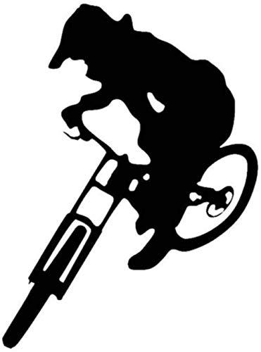 UYEDSR Auto Stickers Auto Sticker Downhill Trails Mtb Sticker Decal Mountainbike Auto Van Reus 15x20cm-Zwart_2pcs