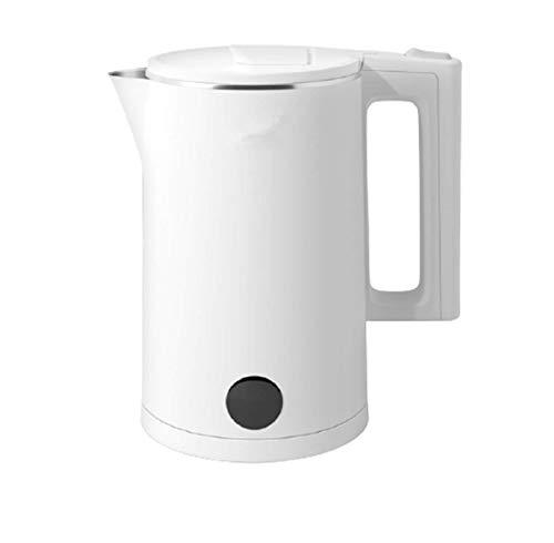 LVYE1 MRMF 1.8L Hervidor Eléctrico, Hervidor De Agua Cool Touch De Doble Pared, Tetera Inalámbrica Sin BPA con Apagado Automático Y Protección para Hervir Y Secar, 1500 W, Color Blanco