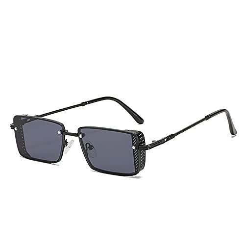 LUOXUEFEI Gafas De Sol Gafas De Sol Rectangulares Mujeres Hombres Cuadrados Marcos Pequeños Gafas De Sol Sombras Mujer