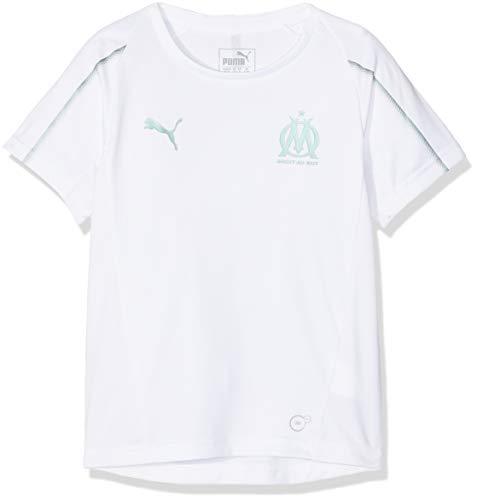 PUMA Kinder Olympique de Marseille SS Trainingstrikot, White, 140