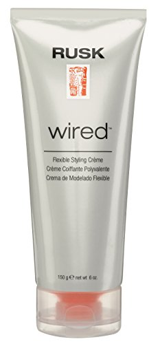 RUSK Designer Collection Wired Flexible Styling Creme, 6 Oz, Lifts, Shines, and Creates Soft, Gravity-Defying Body, Provides Pliable Style Support and Flexible Body