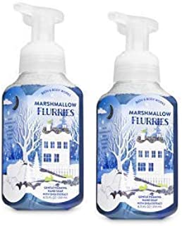 Bath and Body Works 2 Marshmallow Flurries Gentle Foaming Hand Soap. 8.75 Oz.