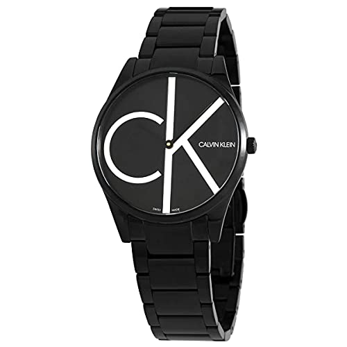 Calvin Klein Time Memory reloj de cuarzo con esfera negra para hombre K4N21441