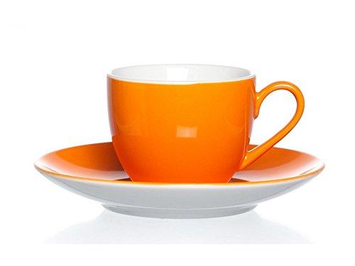 Espressotassen - Set 12 tlg. Doppio orange