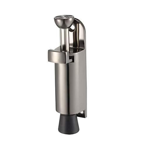 Kickdown - Tope de puerta para pedal de pie con muelle y tope de puerta, soporte 112 mm, color negro