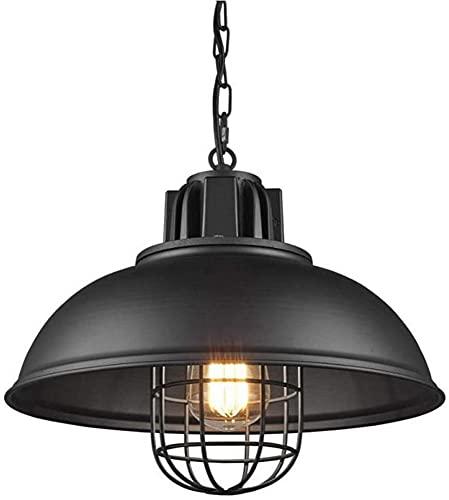 Waqihreu Lámpara Colgante de luz para Comedor,Accesorio de iluminación Industrial Retro con Pantalla Negra,lámpara Colgante,Granero,Luces de Granja para Isla de Cocina