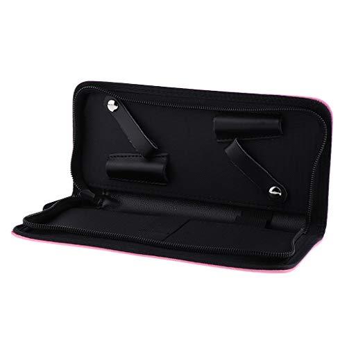 dailymall Portable 6 Couleurs Salon Scissor Holder Pouch Cases, Salon De Coiffure Outils Holster Bag - Rose