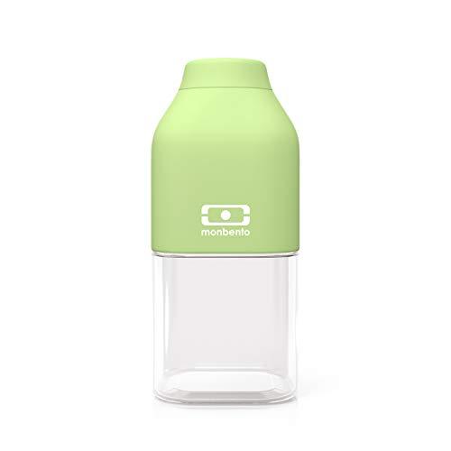 monbento - MB Positive S grün Apple Trinkflasche Kinder bpa frei - 0,33 L - Tritan Trinkflasche