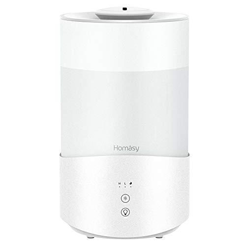 Homasy 4L Ultraschall Luftbefeuchter,ätherischer Öle Diffusor mit Touchscreenmit 7 Farblampe,Schlafzimmer-Luftbefeuchter,24dB Auto-Abschaltfunktion