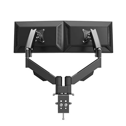 Desktop Dual Full Motion LCD-monitor roterende Mount Scherm Bracket Fit For Binnen 24 Inches 10KG Weight Per Arm (Color : Black)