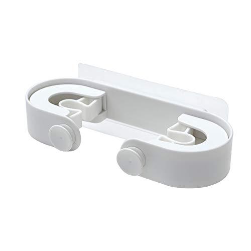 Conveniente Clip MOP Clip MOP Holder Sticky Hook Soporte de la Escoba de la Escoba Baño del hogar Mopas de Almacenamiento de Clip Mercancías Productos domésticos (Color : White)