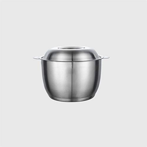 ZHENZEN Stainless metal mixing bowl daring salad bowl Multifunctional mixing bowl Kitchenware With scale and canopy High capability Can be used as seasoning, and so on. (Size : 21.3cm)