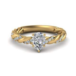 Anello di fidanzamento da donna con diamante solitario da 2,20 carati, taglio a pera, in oro rosa 14 kt bianco giallo 18 kt e Oro giallo, 49 (15.6), colore: Yellow, cod. P-LRN-1777-LCD-YG-14K-J