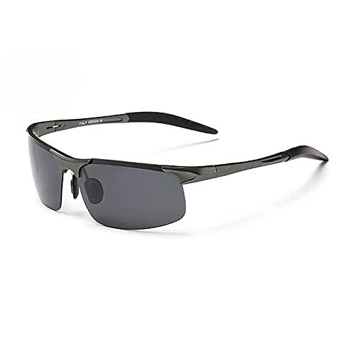 BEIAKE Gafas De Sol Adultos Gafas Gafas De Sol Retro Polarizadas Adecuadas para Ciclismo, Correr, Viajar, Playa, Drive Goggles,Gris