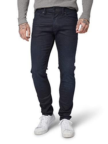 TOM TAILOR Denim Herren Slim Piers Jeans, Blau (Blue Black Denim 10170), 33W / 34L